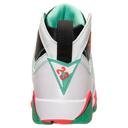 Air Jordan VII 7 GS White/Infrared-Black-Verde 705417-138 (5)