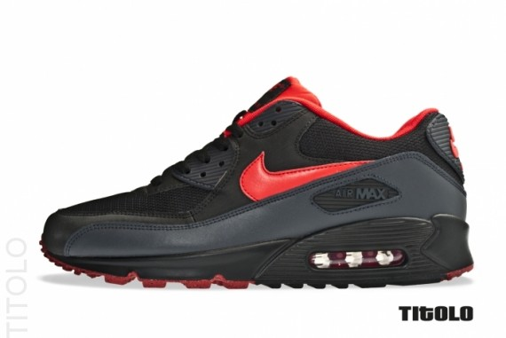 air max 90 black and red