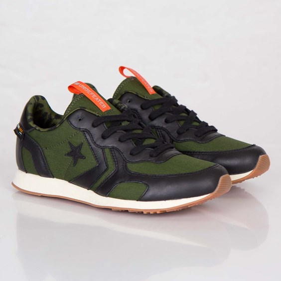 Undefeated x Converse Auckland Racer in Black Rifle Green and Orange