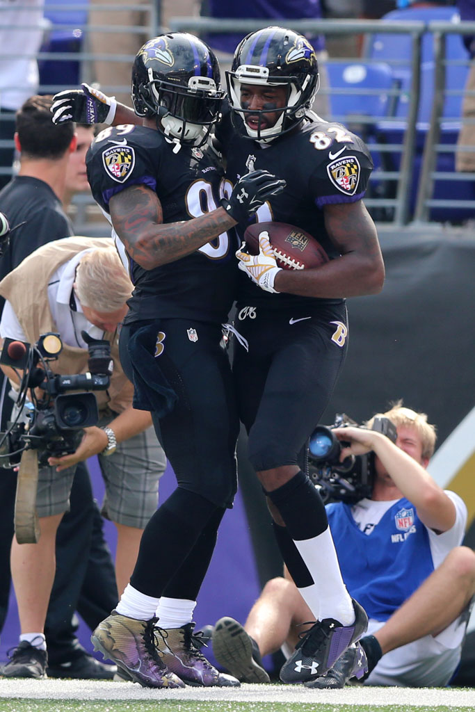 Steve Smith wearing Under Armour Nitro Icon Ravens by Dez Customz (2)