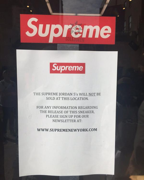Supreme Jordan Canceled