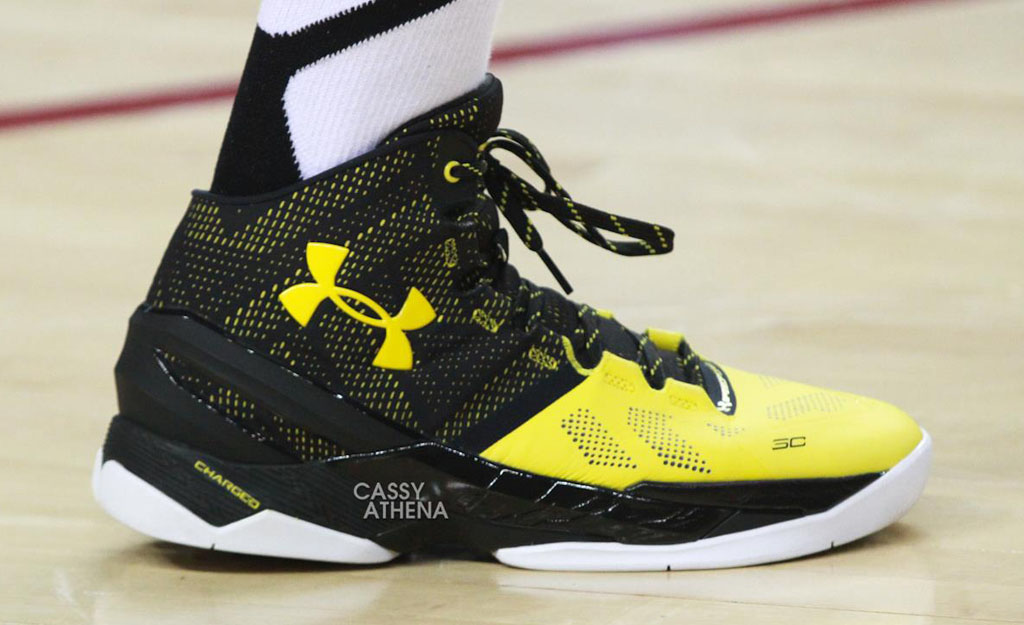 Chris Brown Debuts the Under Armour Curry Two In Black   Yellow ... 29e401fff2