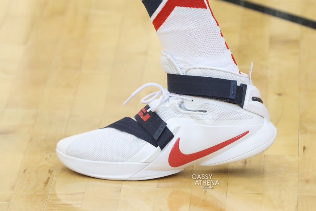 via Newsday · DeMarcus Cousins wearing the 'USA' Nike Soldier 9