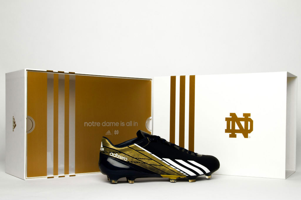 Notre Dame To Debut Custom adidas adizero 5-Star 2.0 Cleats In BCS ... 48374f460