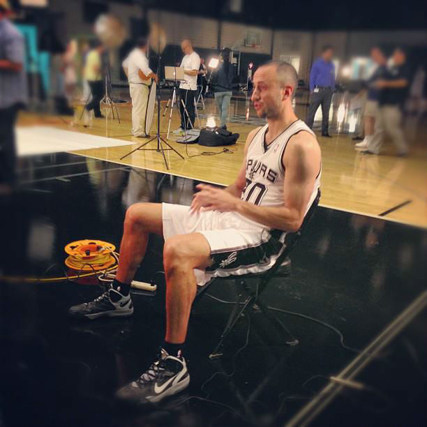 Manu Ginobili wearing Nike Air Max Hyperguard Up