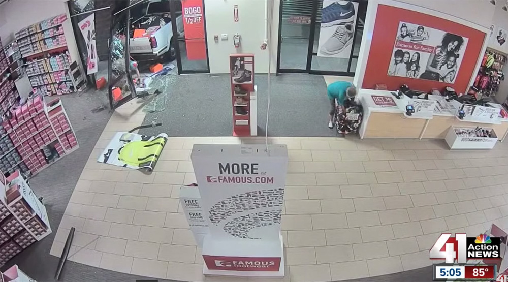 Crash Grab Sneaker Robbery At Famous Footwear