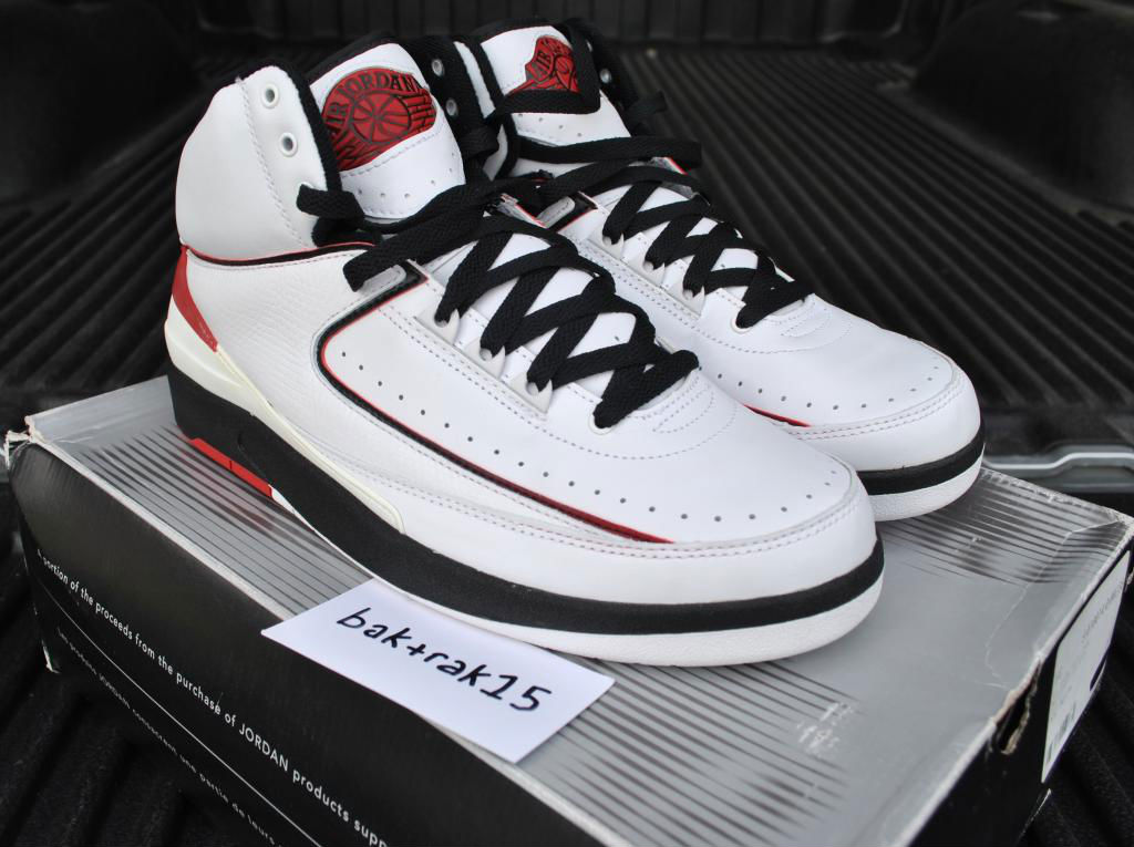 Spotlight // Pickups of the Week 12.29.12 - Air Jordan Retro II 2 White Black Red by baktrak15