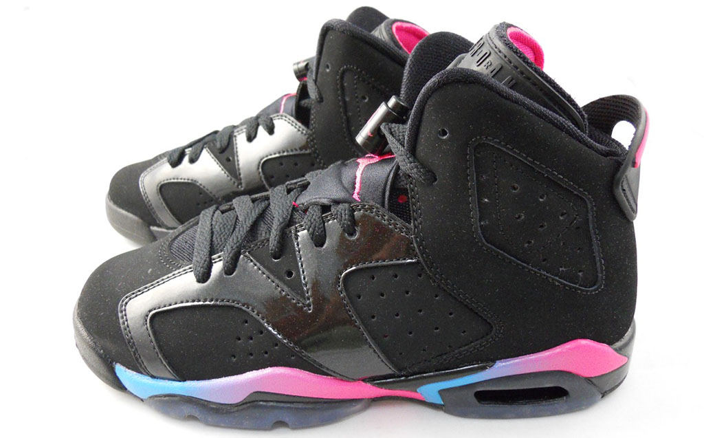Air Jordan VI 6 GS Black Pink Flash Marina Blue 543390-050 (1)