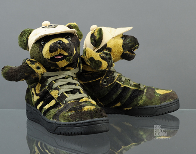 buy popular dec0e c7c38 Already arriving at select European retailers like Caliroots, you can  expect the Camo Bears to be hitting US adidas Original accounts soon in  men s sizing.