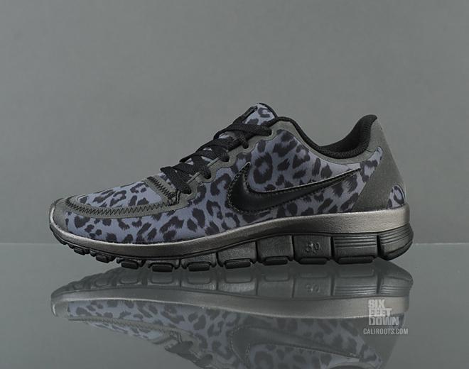womens nike free 5.0 v4 leopard cheetah print shoes