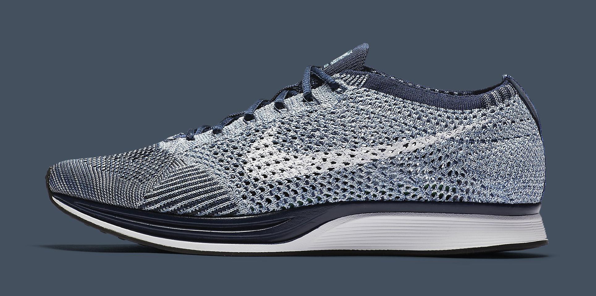 buy popular 04433 97377 Nike Flyknit Racer Blue Tint White 862713-401 Profile