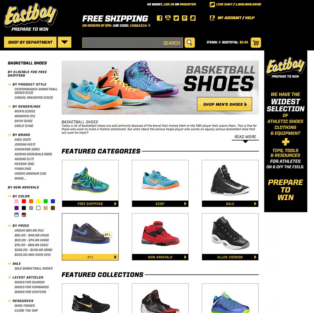 Eastbay Launches Re-Designed Website (1)
