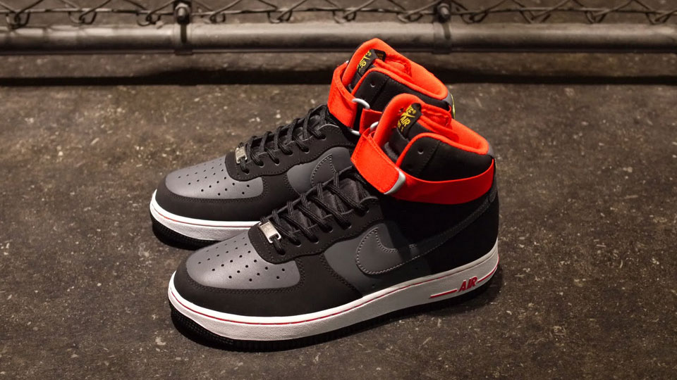 NIKE AIR FORCE 1 HIGH 07 Black/Dark Grey