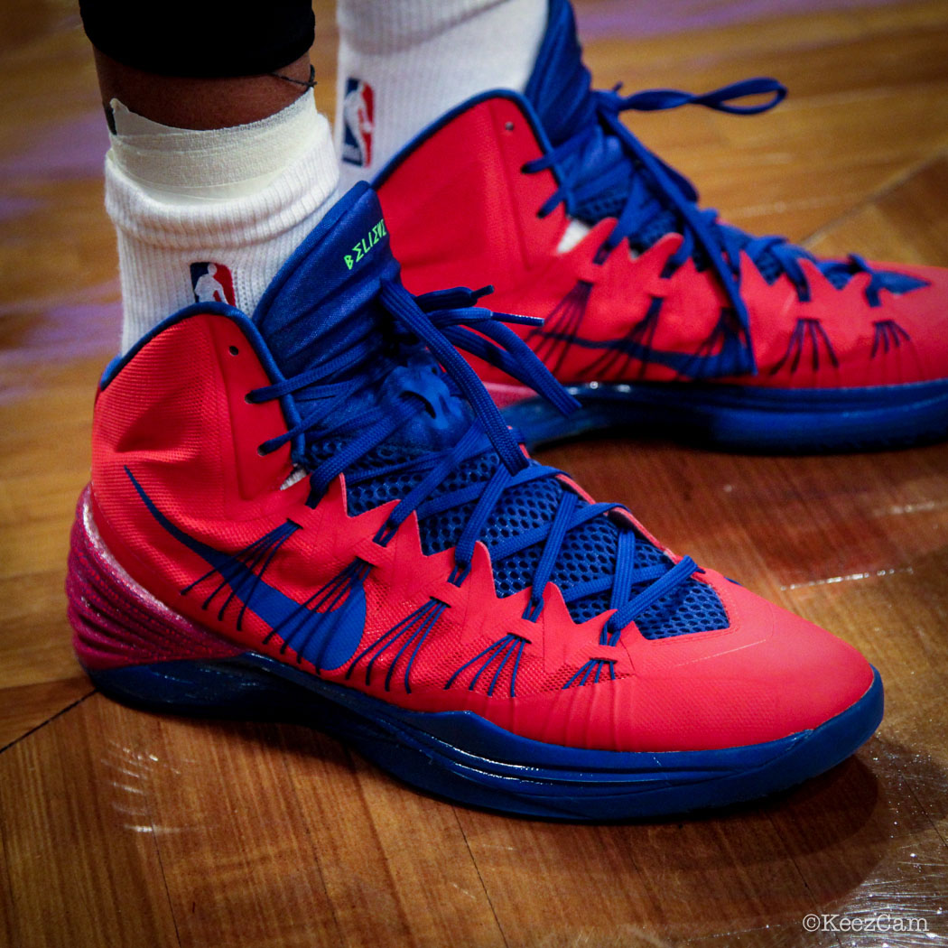 95d0fc0bde1a SoleWatch    Up Close At Barclays for Nets vs Pistons - Charlie Villanueva  wearing Nike