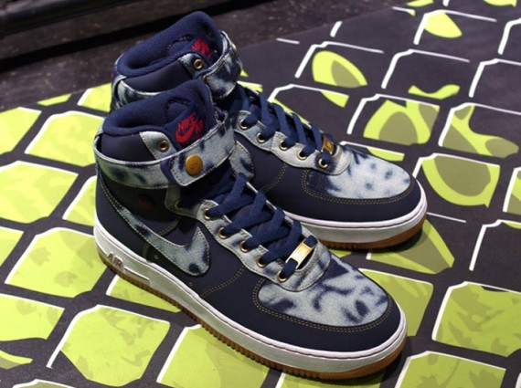 Nike Air Force 1 High - Acid Washed Denim  fe9ae3c1b3