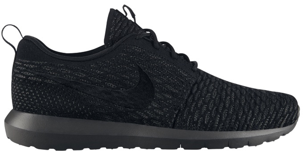 Nike Roshe Run Flyknit Black/Black-Midnight Fog | Nike | Sole Collector