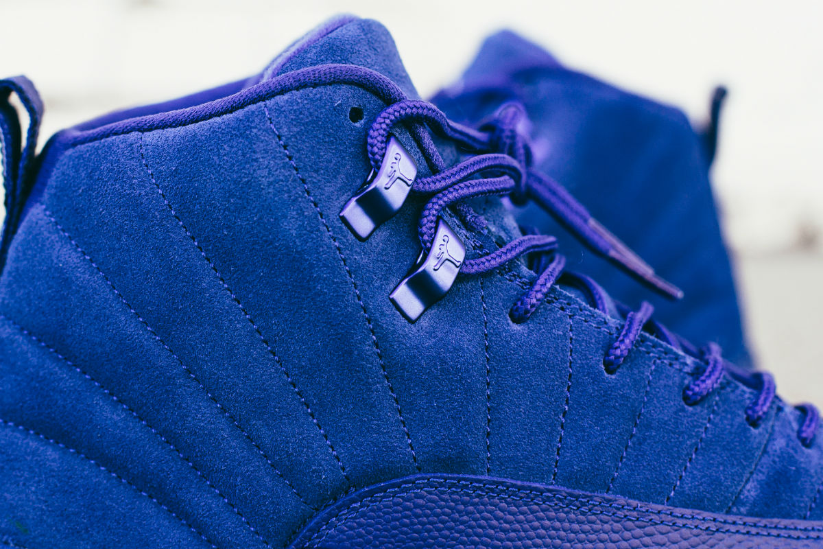 Air Jordan 12 Blue Suede Eyelets 130690-400
