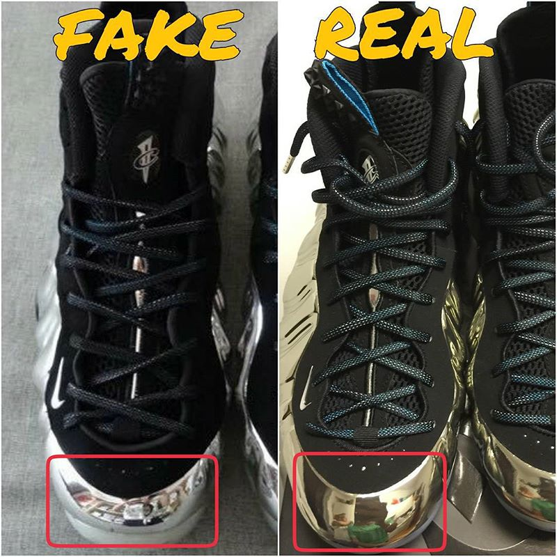 How To Tell If Your Chrome Nike Foamposites Are Real Or