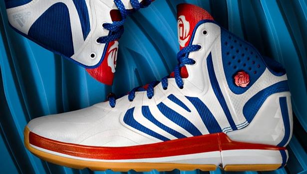 adidas Rose 4.5 Running White/Blue-Scarlet