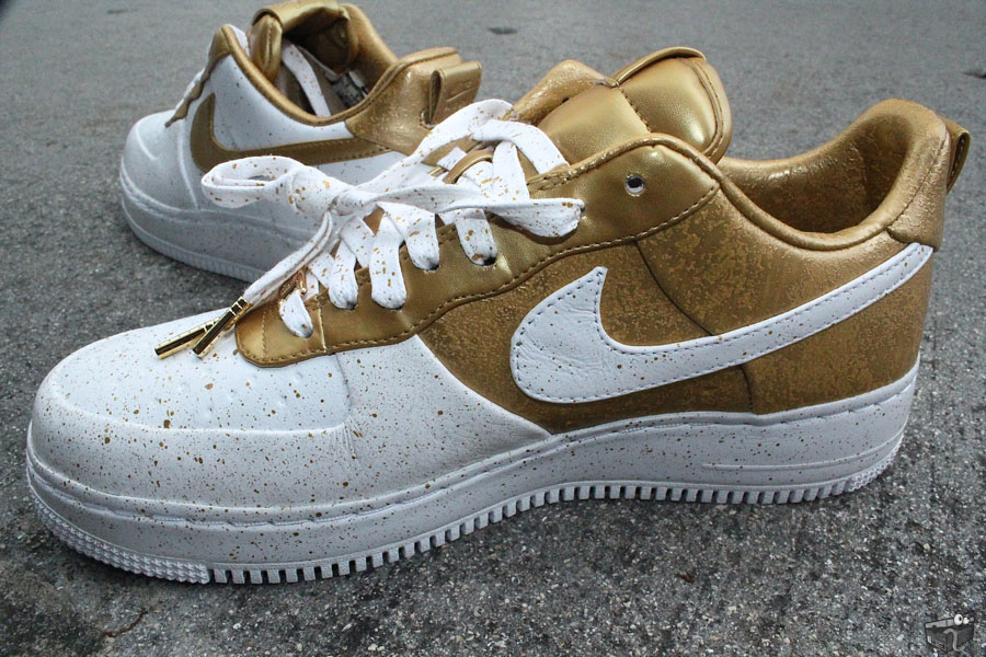 nike air force 1 gold