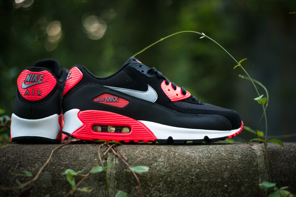 nike air max 90 nero wolf grey red