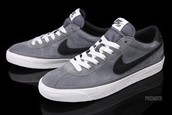check out 9c995 317e5 Nike SB Zoom Bruin QS - GreyBlack  Sole Collector