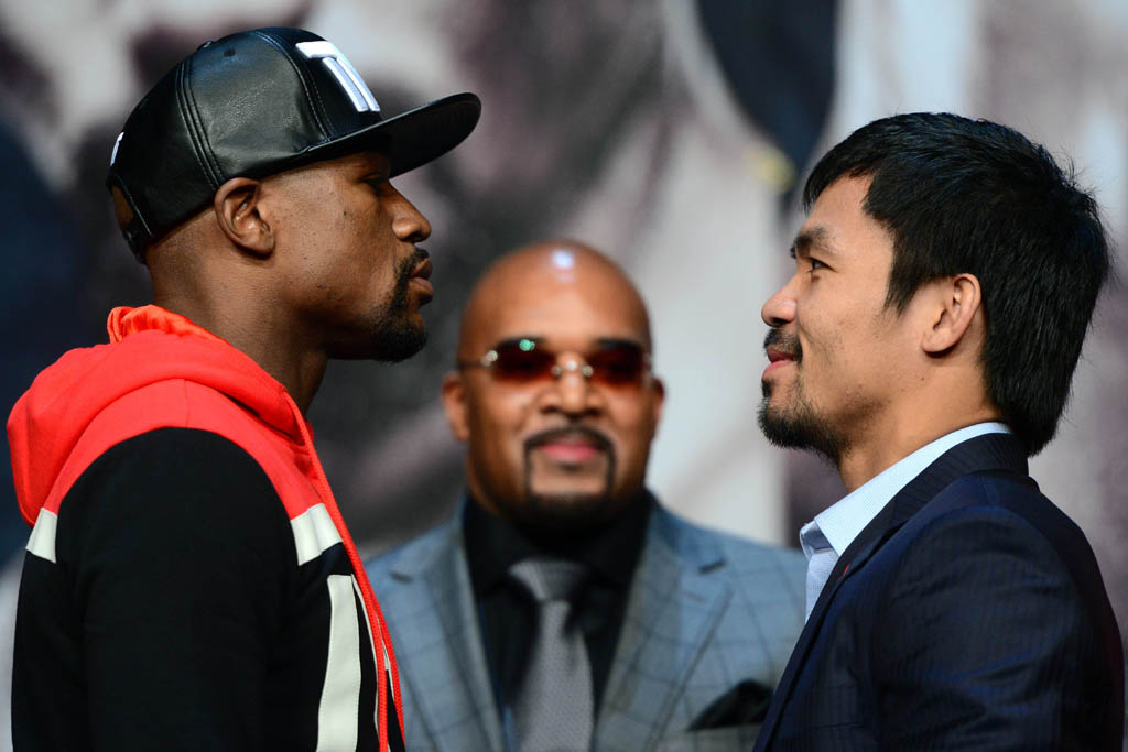 Floyd Mayweather vs. Manny Pacquiao Face-to-Face