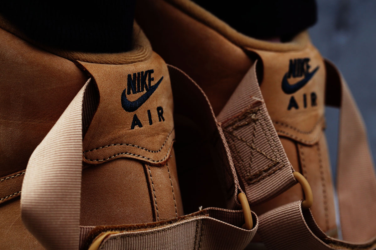 new concept c6786 09277 Heres an On-Feet Look at the Wheat Nike Air Force 1