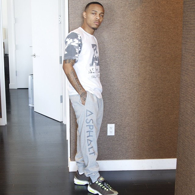 Bow Wow wearing Nike Air Max 95 Tape