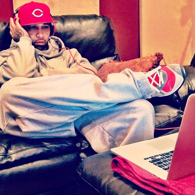 Joe Budden wearing Nike LeBron 8 V/2 Custom