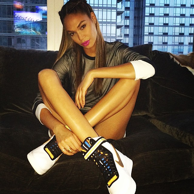 Joan Smalls wearing Nike Air Force 1 RT
