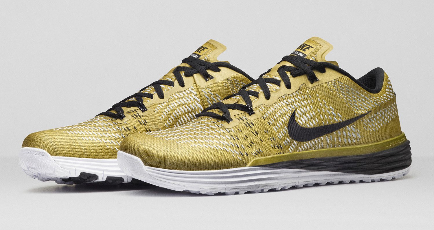 394df7f4af7803 The sneaker release date on these gold Ashton Eaton Lunar Caldras is set  for Dec. 26. Inline red/black and volt/black colorways will follow in early  2016.