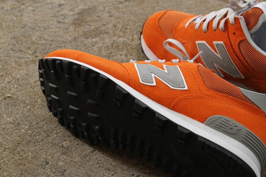 new balance 574 style orange