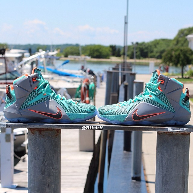 Nike LeBron XII 12 Release Date Turquoise/Grey-Crimson-Black 684593-301 (2)