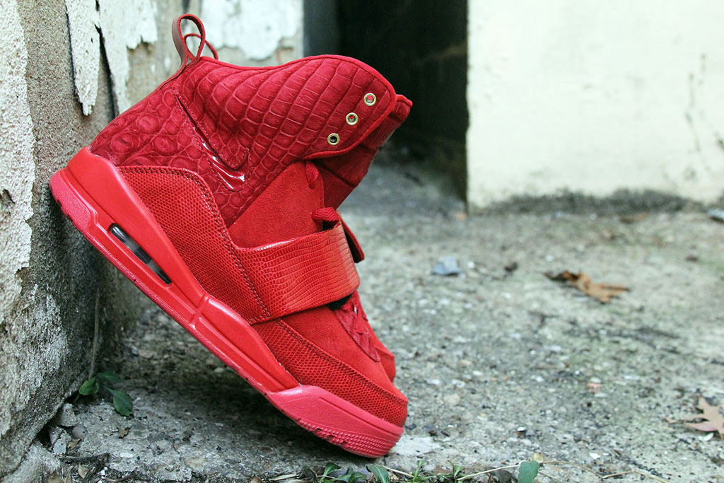 Nike Air Yeezy 'Red Croc Lizard Suede' by JBF Customs (6)