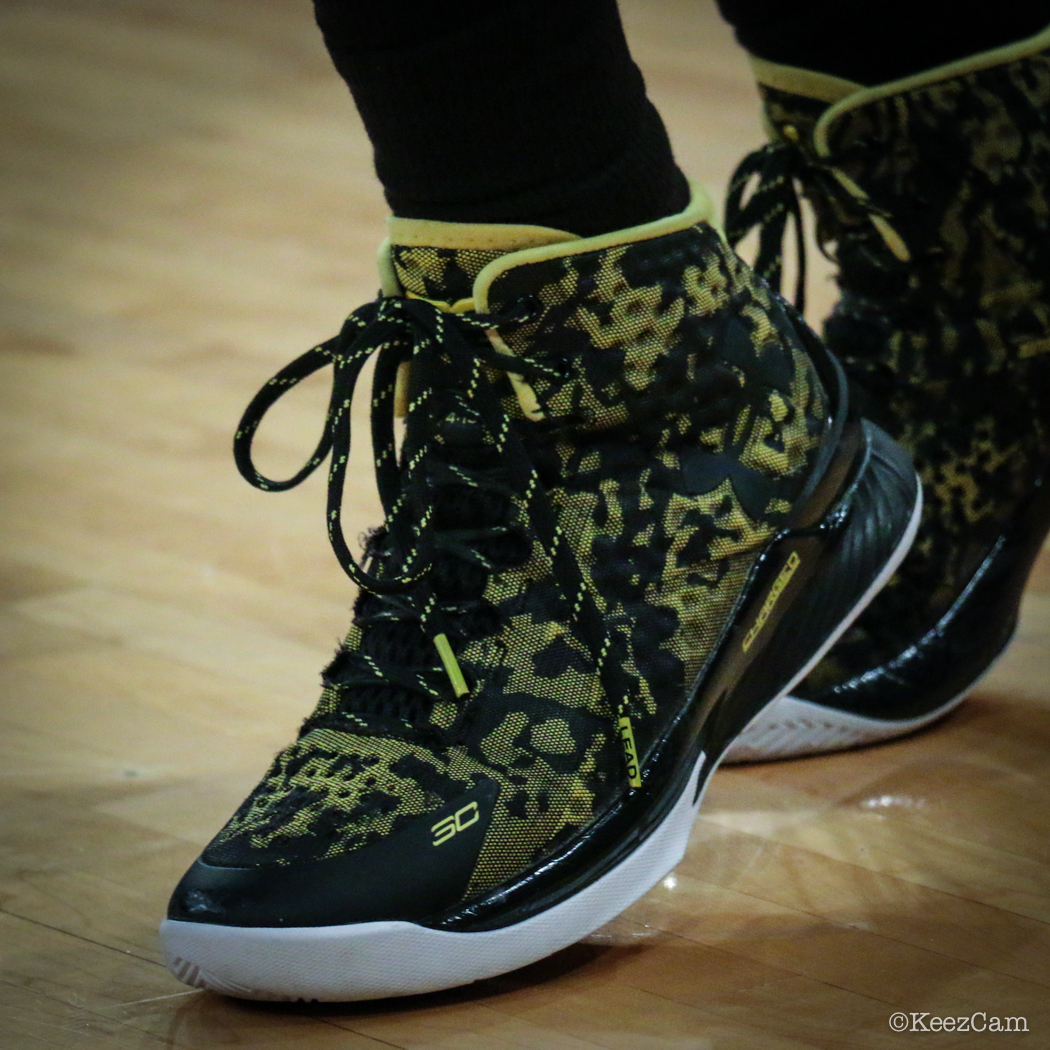 Alex Bentley wearing the 'Away' Under Armour Curry One