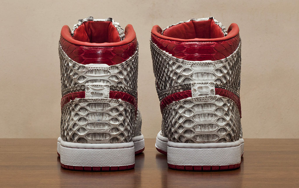 Air Jordan 1 Natural & Metallic Red Python by JBF Customs (4)