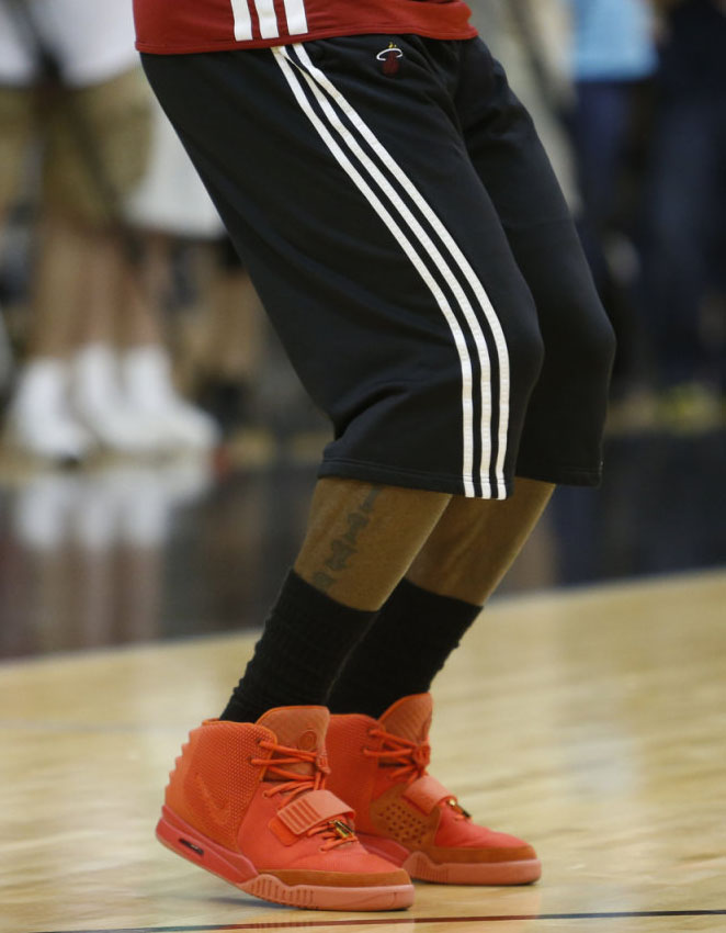 LeBron James wearing Nike Air Yeezy II 2 Red October (13)