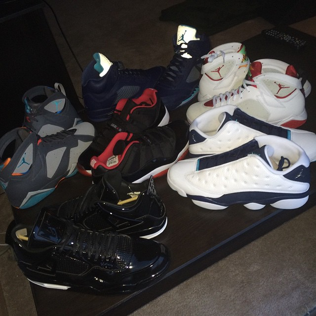 No Shortage of Heat In Kendall Marshall s Latest Air Jordan Haul ... f4d873ff4