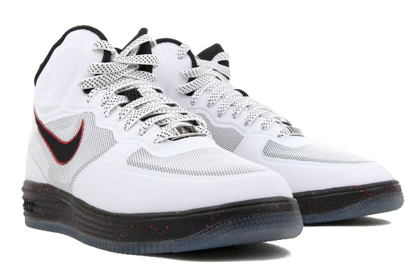 Nike Lunar Force 1 Fuse High - White Black-University Red  018dc8d9f