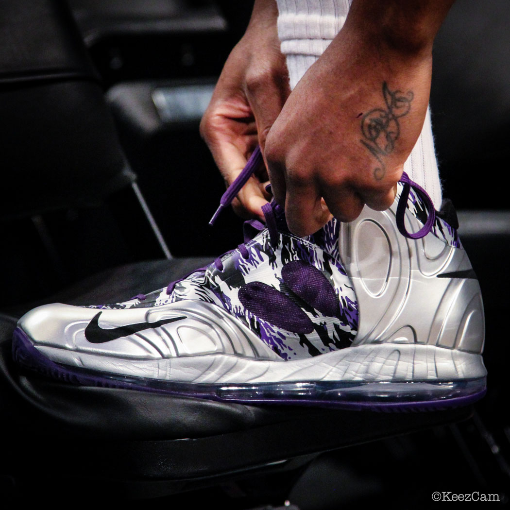 Rudy Gay wearing Nike AIr Max Hyperposite Kings PE (2)