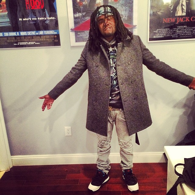 Wale wearing Nike LeBron 7 Red Carpet