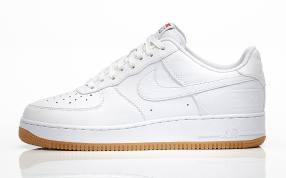 The All White Nike Air Force 1 Low Got a Gum Sole | Complex