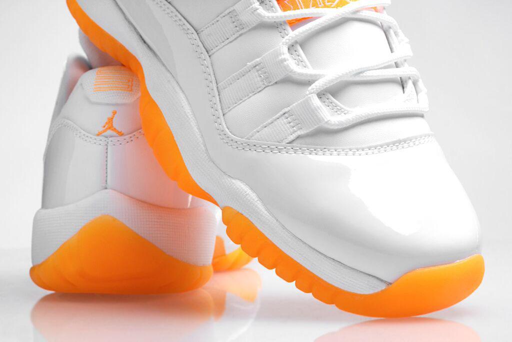 c2a476e2e921 See How the  Citrus  Air Jordan 11 Low Looks On-feet