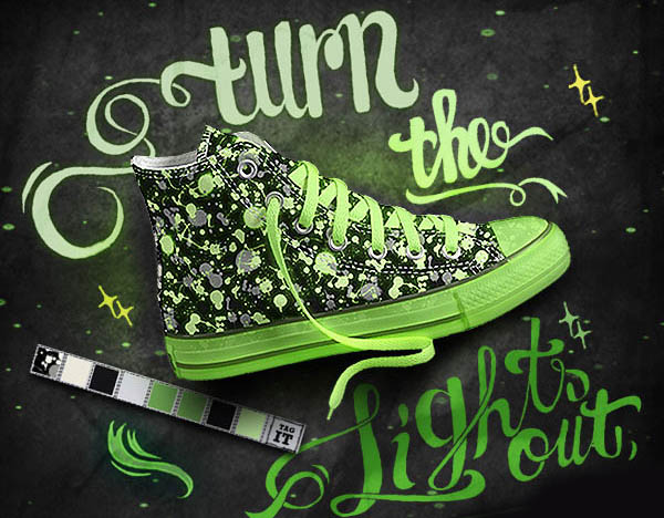 Converse Glow in the Dark Shoes Sneakers Chuck Taylor All Star