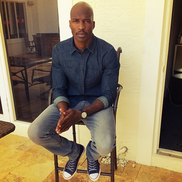 Chad Johnson wearing Converse Chuck Taylor All Star