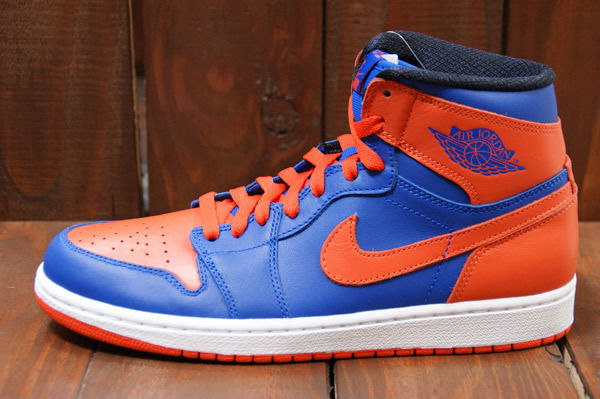 Air Jordan Retro I 1 High OG Knicks Melo Game Royal Team Orange 555088-407 (2)