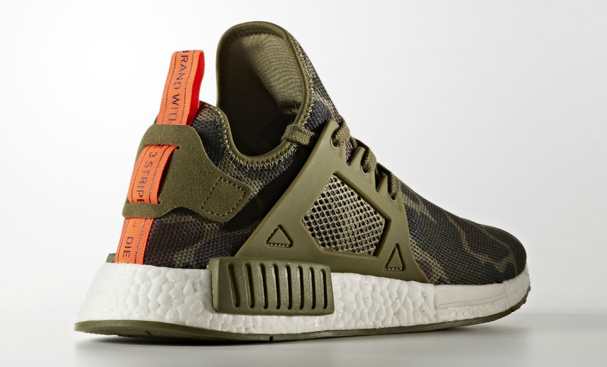 low priced 0a18e cbd0f Adidas NMD XR1 Green Camo Heel BA7232