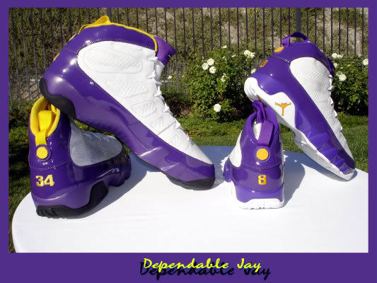 Air Jordan IX 9 Shaquille O'Neal Shaq Lakers Home PE (3)