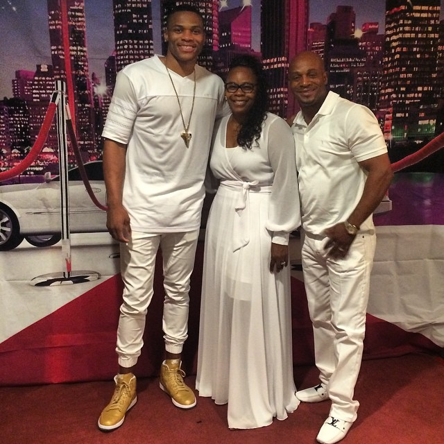 Russell Westbrook wearing Air Jordan I 1 Gold